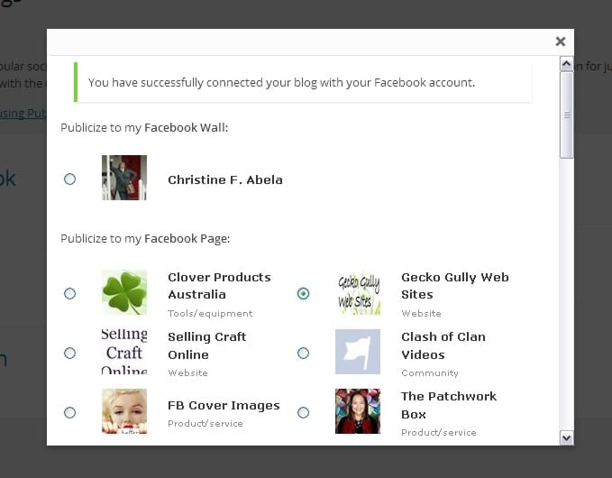 wordpress jetpack publicize facebook