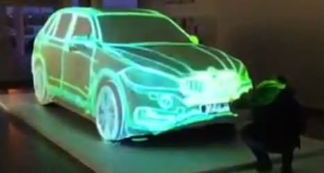 BMW hologram ad