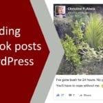 Embedding Facebook Posts on Wordpress